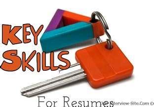 Define key skills resume
